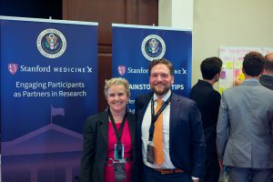 Claudia Williams, Senior Health and Health IT advisor at The White House and co-convener of the workshop, with Nick Dawson, Executive Board Member, Stanford Medicine X.